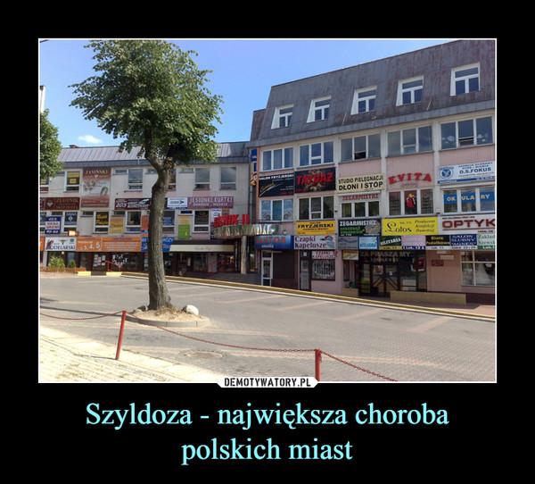 Szyldoza - największa chorobapolskich miast –
