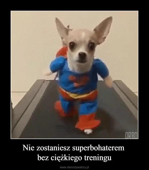 Nie zostaniesz superbohaterem bez ciężkiego treningu –