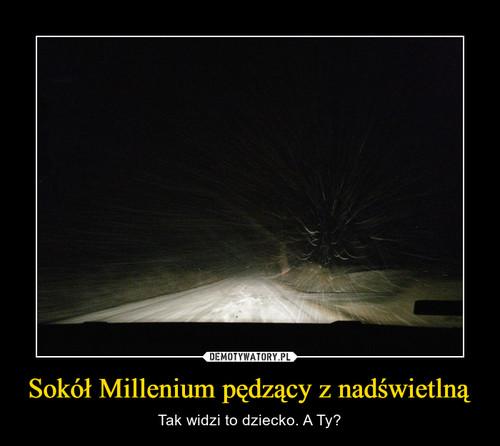 Sokół Millenium pędzący z nadświetlną