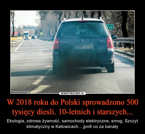 W 2018 roku do Polski sprowadzono 500 tysięcy diesli. 10-letnich i starszych... – Ekologia, zdrowa żywność, samochody elektryczne, smog, Szczyt klimatyczny w Katowicach... jprdl co za banały