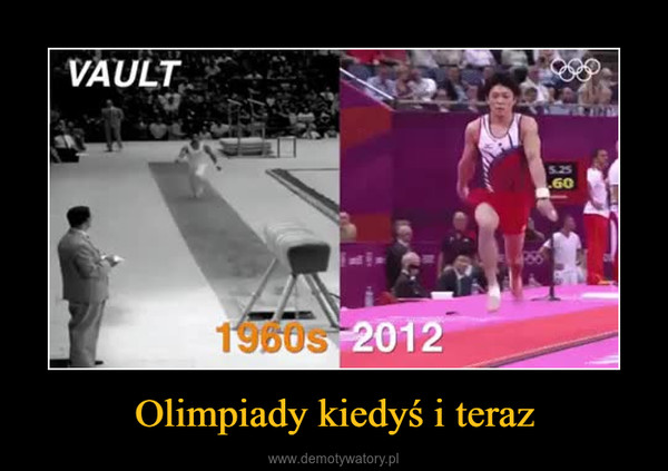 Olimpiady kiedyś i teraz –
