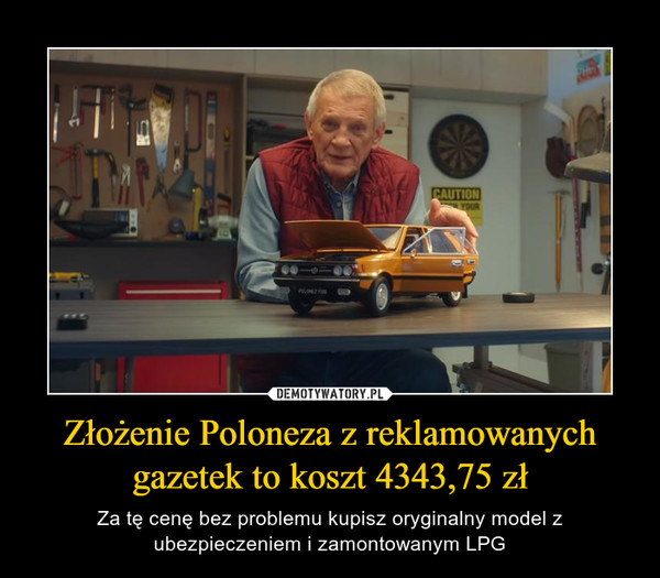 Złożenie Poloneza z reklamowanych gazetek to koszt 4343,75 zł