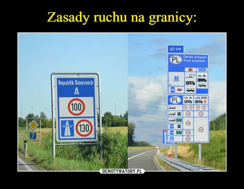 Zasady ruchu na granicy: