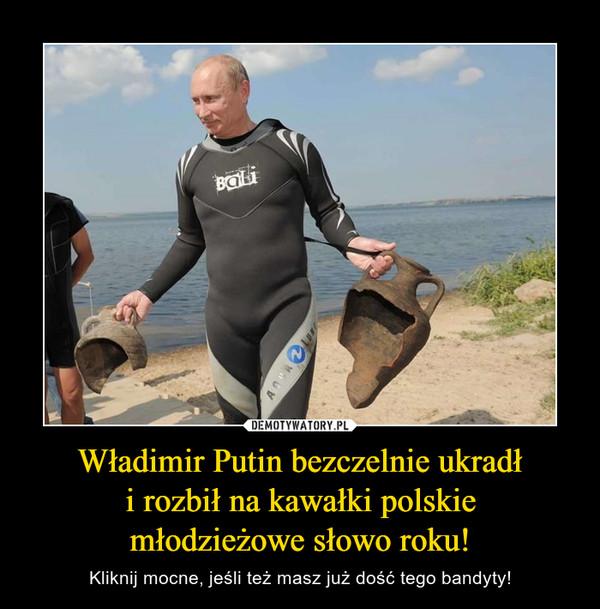 Władimir Putin bezczelnie ukradłi rozbił na kawałki polskiemłodzieżowe słowo roku! – Kliknij mocne, jeśli też masz już dość tego bandyty!