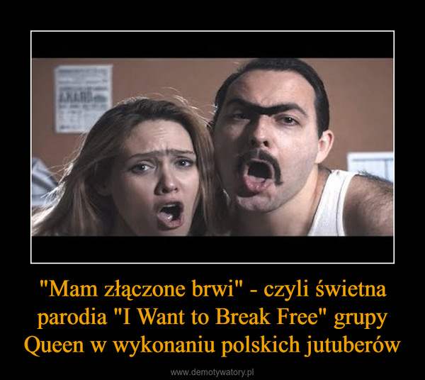 """""""Mam złączone brwi"""" - czyli świetna parodia """"I Want to Break Free"""" grupy Queen w wykonaniu polskich jutuberów –"""