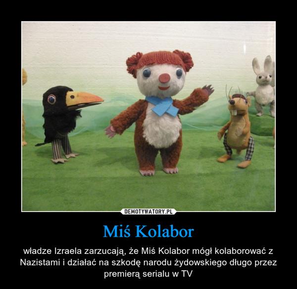 Miś Kolabor – władze Izraela zarzucają, że Miś Kolabor mógł kolaborować z Nazistami i działać na szkodę narodu żydowskiego długo przez premierą serialu w TV