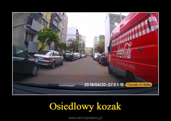 Osiedlowy kozak –