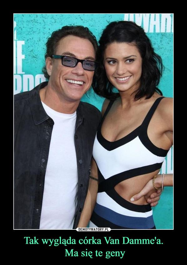 Tak wygląda córka Van Damme'a. Ma się te geny –