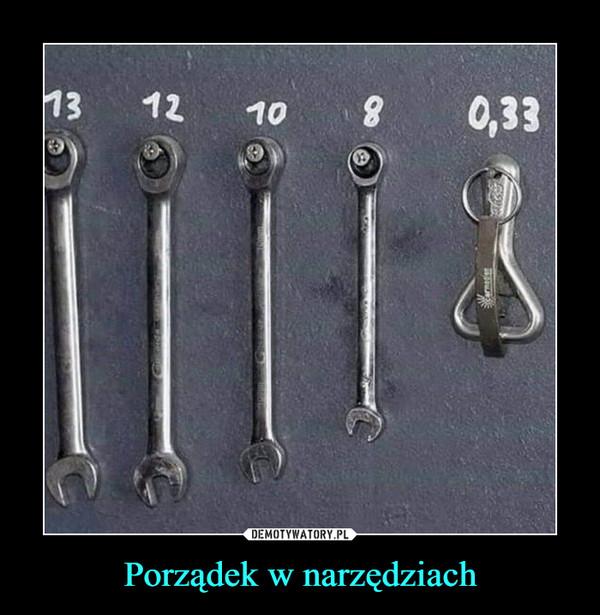 Porządek w narzędziach –