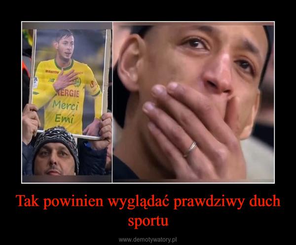 Tak powinien wyglądać prawdziwy duch sportu –