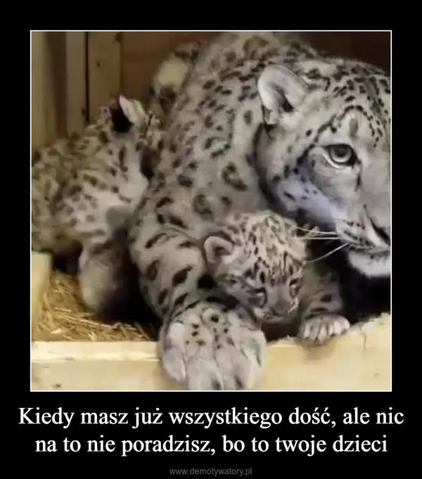 Kiedy masz już wszystkiego dość, ale nic na to nie poradzisz, bo to twoje dzieci –