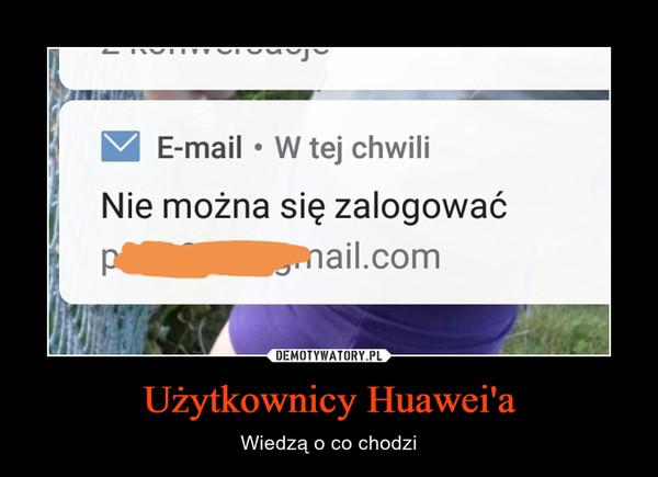 Użytkownicy Huawei'a – Wiedzą o co chodzi