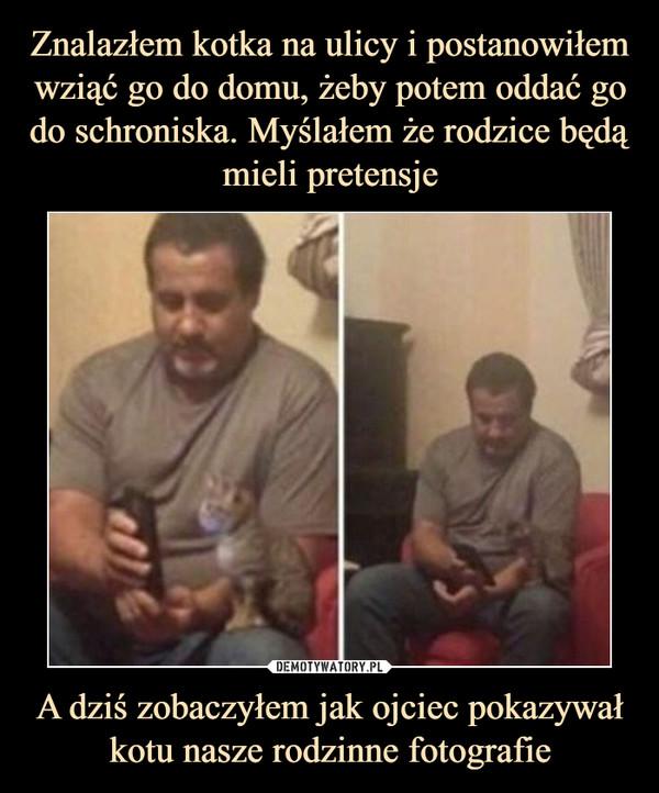 A dziś zobaczyłem jak ojciec pokazywał kotu nasze rodzinne fotografie –