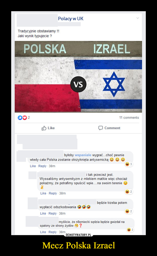 Mecz Polska Izrael –