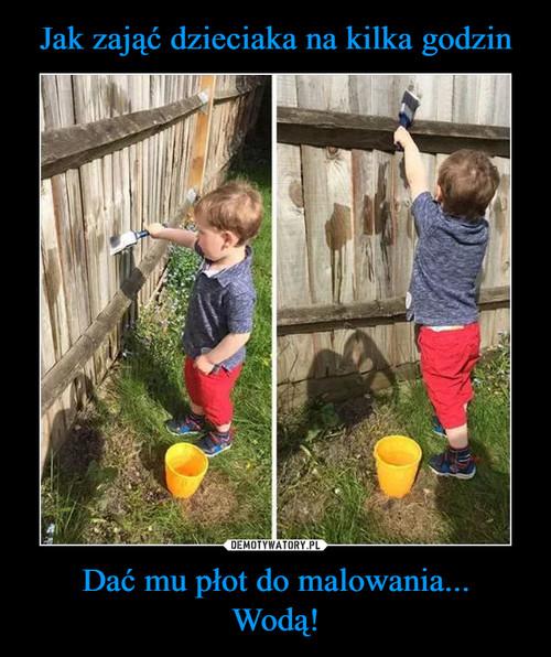 Jak zająć dzieciaka na kilka godzin Dać mu płot do malowania... Wodą!