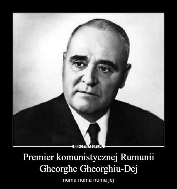 Premier komunistycznej Rumunii Gheorghe Gheorghiu-Dej – numa numa numa jej