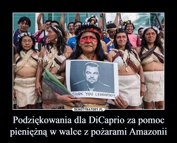 Podziękowania dla DiCaprio za pomoc pieniężną w walce z pożarami Amazonii –