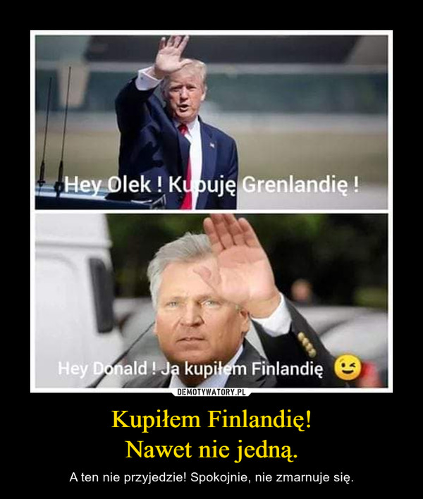 Kupiłem Finlandię! Nawet nie jedną.