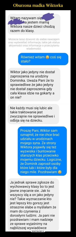 Oburzona madka Wiktorka