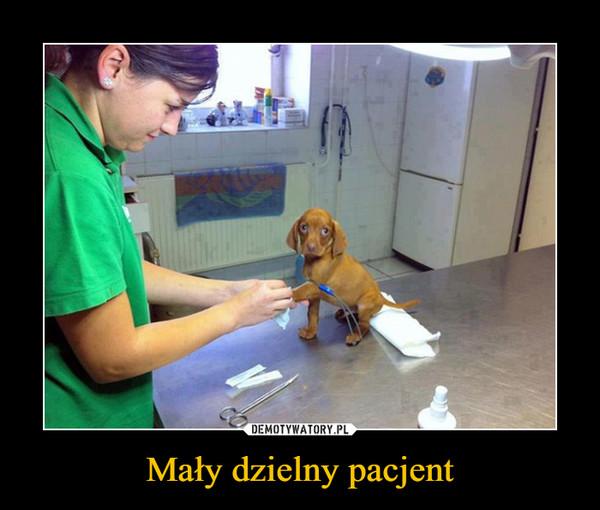 Mały dzielny pacjent –
