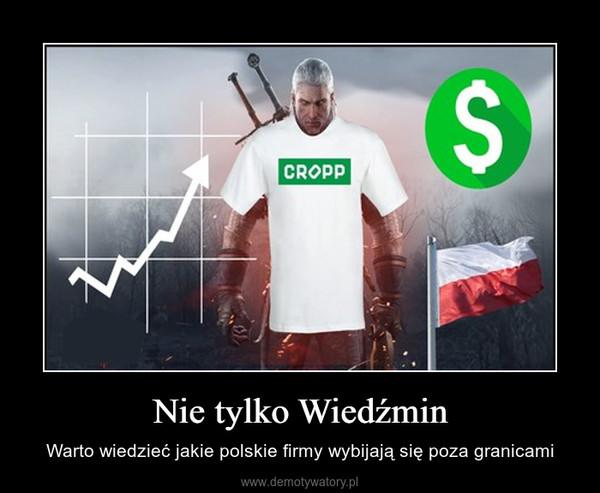 Nie tylko Wiedźmin – Warto wiedzieć jakie polskie firmy wybijają się poza granicami