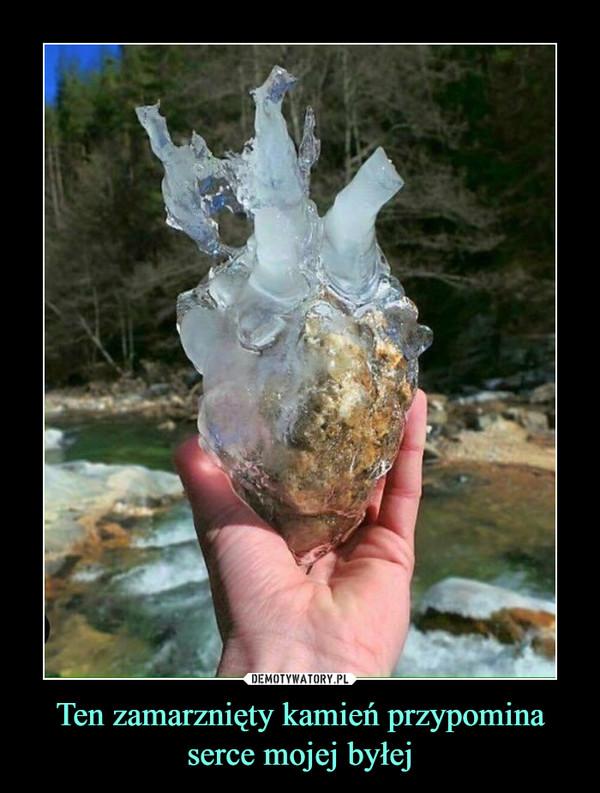 Ten zamarznięty kamień przypomina serce mojej byłej –