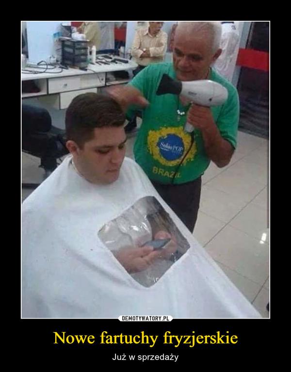 Nowe fartuchy fryzjerskie – Już w sprzedaży