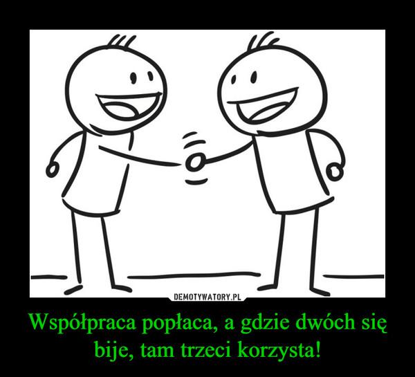 Współpraca popłaca, a gdzie dwóch się bije, tam trzeci korzysta! –