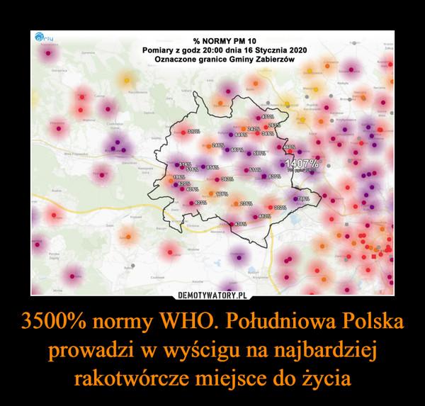 3500% normy WHO. Południowa Polska prowadzi w wyścigu na najbardziej rakotwórcze miejsce do życia –