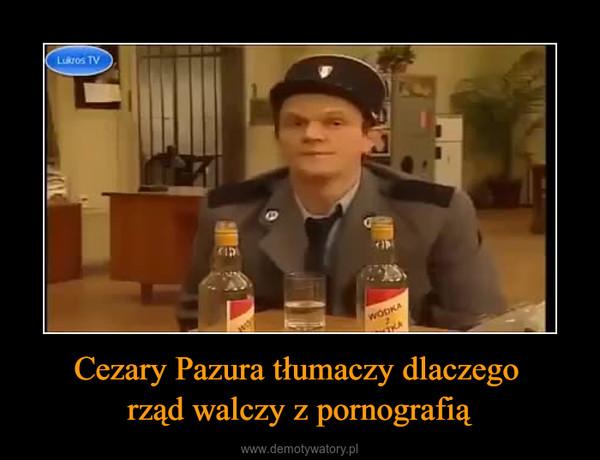 Cezary Pazura tłumaczy dlaczego rząd walczy z pornografią –