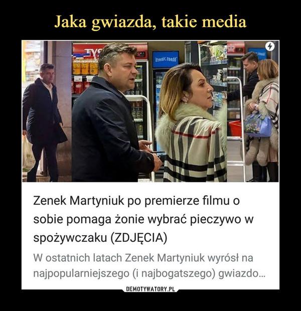–  Zenek Martyniuk po premierze filmu osobie pomaga żonie wybrać pieczywo wspożywczaku (ZDJĘCIA)W ostatnich latach Zenek Martyniuk wyrósł nanajpopularniejszego (i najbogatszego) gwiazdo...