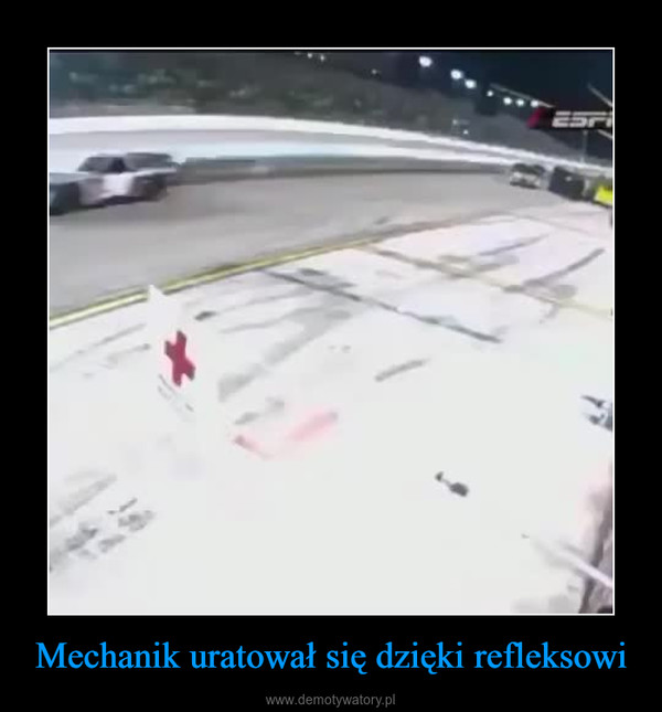 Mechanik uratował się dzięki refleksowi –