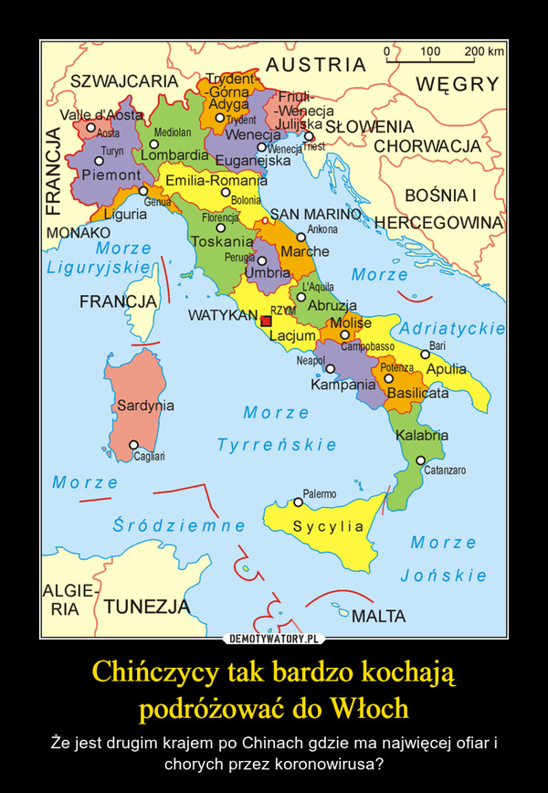 Chińczycy tak bardzo kochają podróżować do Włoch – Że jest drugim krajem po Chinach gdzie ma najwięcej ofiar i chorych przez koronowirusa?