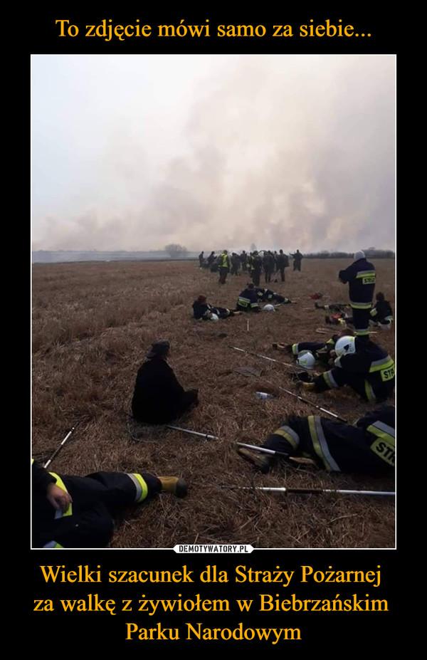 Wielki szacunek dla Straży Pożarnej za walkę z żywiołem w Biebrzańskim Parku Narodowym –