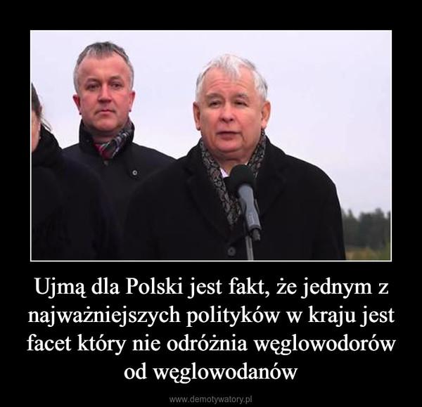 Ujmą dla Polski jest fakt, że jednym z najważniejszych polityków w kraju jest facet który nie odróżnia węglowodorów od węglowodanów –