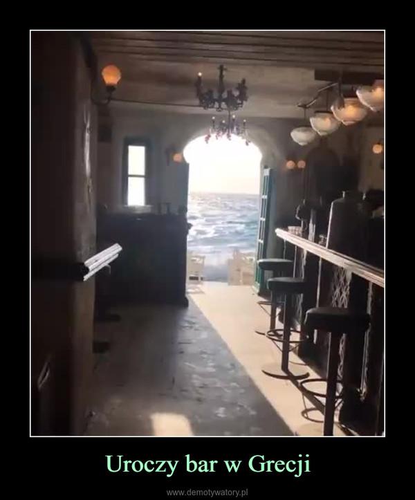 Uroczy bar w Grecji –