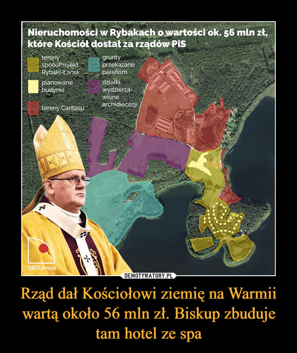 Rząd dał Kościołowi ziemię na Warmii wartą około 56 mln zł. Biskup zbuduje tam hotel ze spa –
