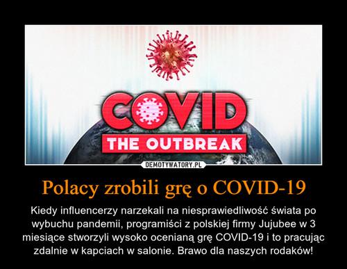Polacy zrobili grę o COVID-19