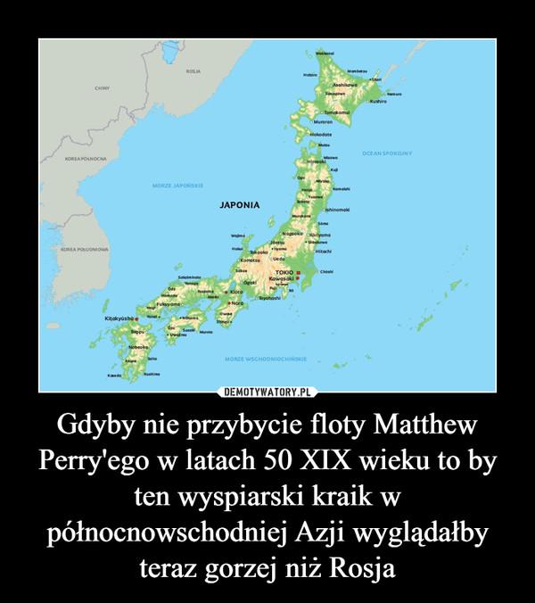 Gdyby nie przybycie floty Matthew Perry'ego w latach 50 XIX wieku to by ten wyspiarski kraik w północnowschodniej Azji wyglądałby teraz gorzej niż Rosja –
