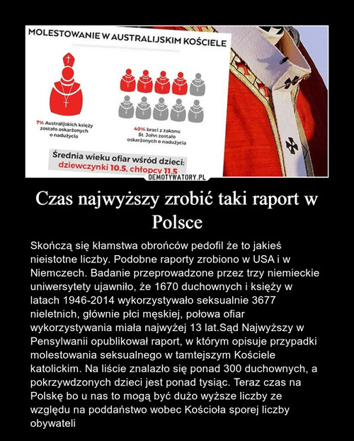 Czas najwyższy zrobić taki raport w Polsce