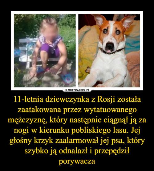 11-letnia dziewczynka z Rosji została zaatakowana przez wytatuowanego mężczyznę, który następnie ciągnął ją za nogi w kierunku pobliskiego lasu. Jej głośny krzyk zaalarmował jej psa, który szybko ją odnalazł i przepędził porywacza