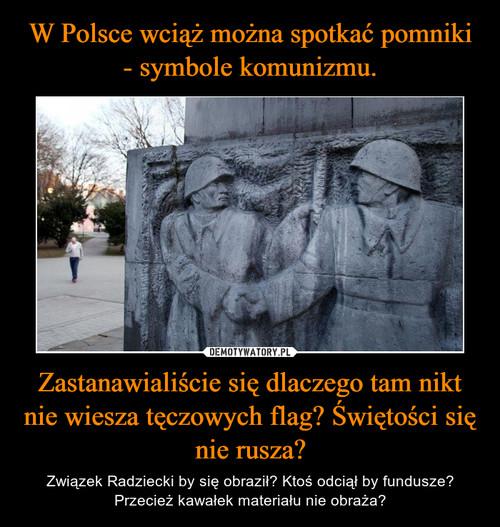 W Polsce wciąż można spotkać pomniki - symbole komunizmu. Zastanawialiście się dlaczego tam nikt nie wiesza tęczowych flag? Świętości się nie rusza?
