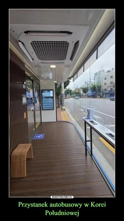 Przystanek autobusowy w Korei Południowej