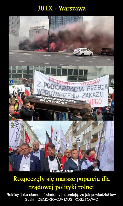 30.IX - Warszawa Rozpoczęły się marsze poparcia dla rządowej polityki rolnej
