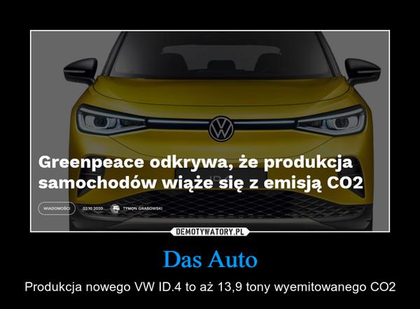 Das Auto – Produkcja nowego VW ID.4 to aż 13,9 tony wyemitowanego CO2