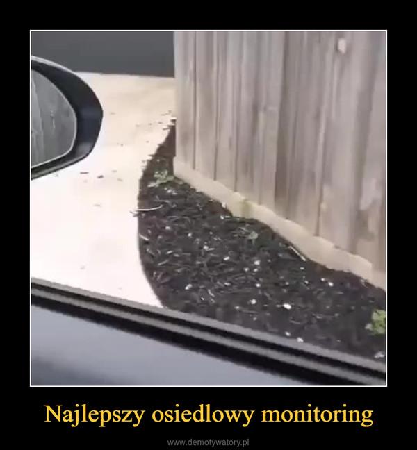 Najlepszy osiedlowy monitoring –