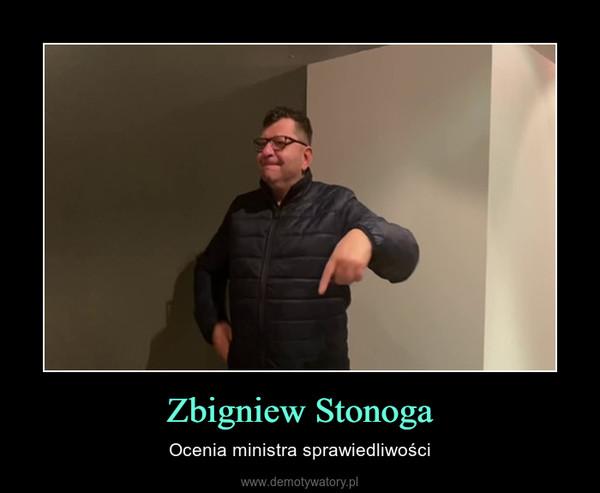 Zbigniew Stonoga – Ocenia ministra sprawiedliwości