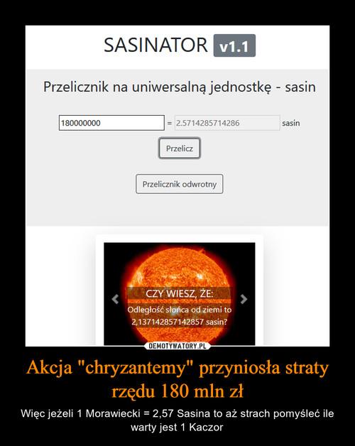"""Akcja """"chryzantemy"""" przyniosła straty rzędu 180 mln zł"""