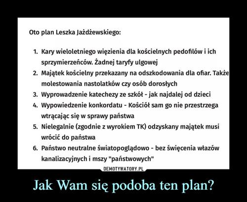 Jak Wam się podoba ten plan?