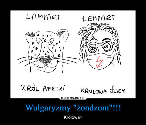 """Wulgaryzmy """"żondzom""""!!!"""